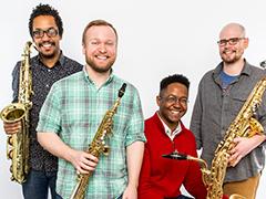 Kenari Quartet – Bob Eason, soprano saxophone; Kyle Baldwin, alto saxophone; Corey Dundee, tenor saxophone; Steven Banks, baritone saxophone
